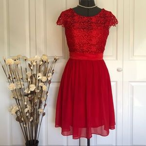 SALE! 2 for $25 Red Lace Sequin Formal Dress